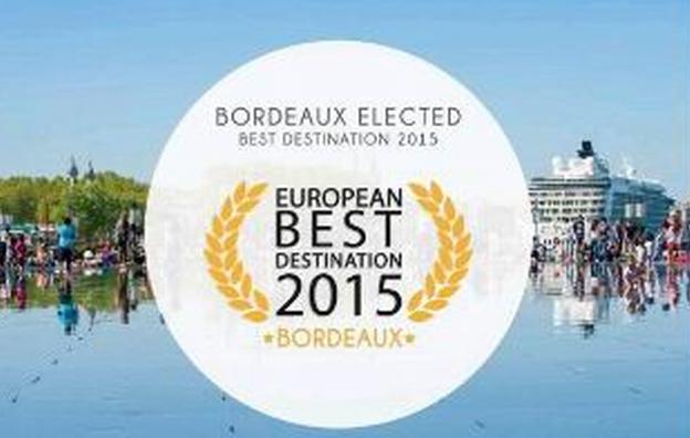 """Bordeaux sacrée """"European Best Destination 2015"""""""