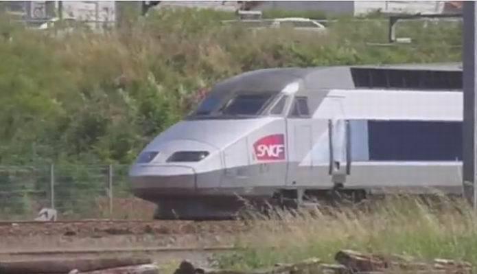 Capture d'écran video TGV