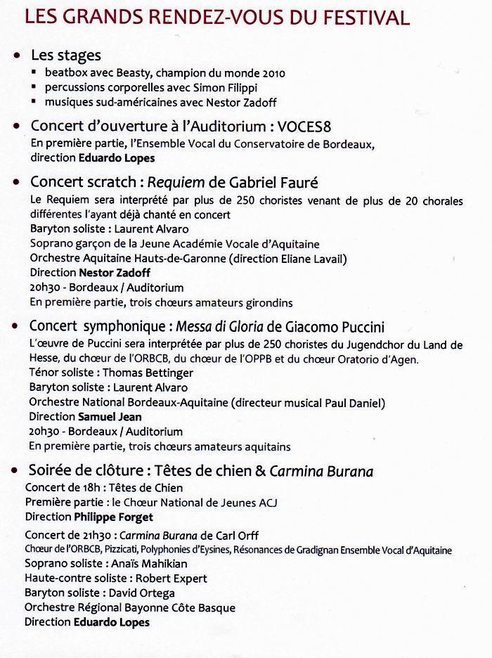 La première édition du festival de chant choral Eufonia sur la bonne voie