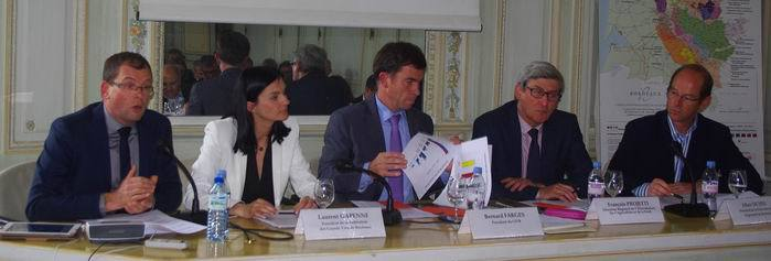 M.Forgeau,Mme Bourolleau, MM Farges,Projetti, Sichel (Ph Paysud)