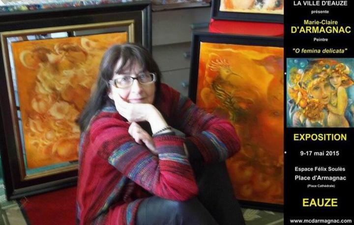 Marie-Claire D'ARMAGNAC dans son atelier (PH DR)