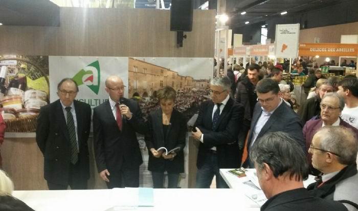 A Paris en présence de Bernard Artigue,président de la chambre d'agriculture (Ph Dep )