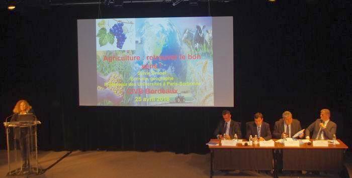 Au cours de l'exposé de Sylvie Brunel (ph Paysud)