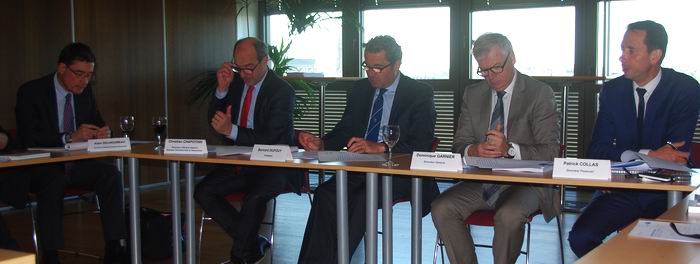Le point à Bordeaux avec Bernard Dupouy, président, Dominique Garnier DG, et leurs collaborateurs (Ph Paysud)
