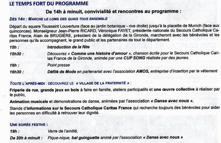 Le Secours Catholique fêtera ses 70 ans sur les quais de Bordeaux