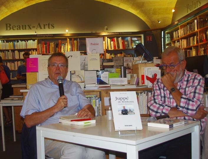 Bernard Broustet et Patrick Berthomeau à La Machine à Lire (ph Paysud)