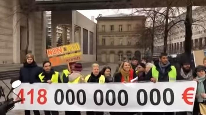 Manifestation à Bercy (capture d'écran vidéo Nexus)