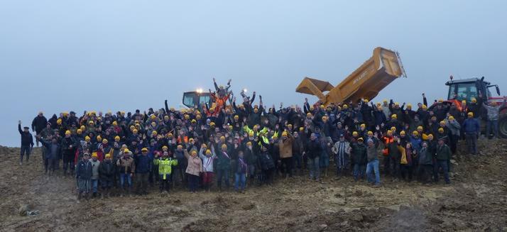 Fin janvier agriculteurs et élus avaient défendu l'ouvrage (ph Coordination)