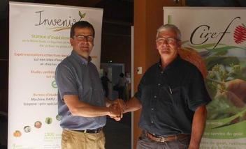 Vincent Schieber  (Invenio) et Jean-Louis Olivier (Ciref)-ph Réussir FL
