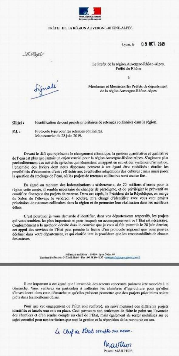Politique de l'eau:le pavé dans la mare de la chambre d'agriculture de Lot-et-Garonne