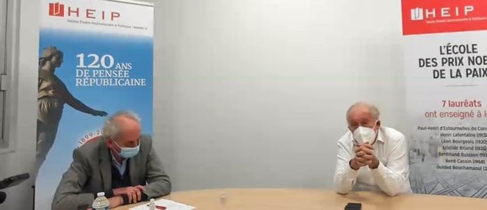 JF Delfraissy répond à Arnaud Benedetti au cours d'une visio-conférence (DR)