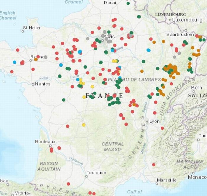 Situation des arbres sélectionnés (DR)