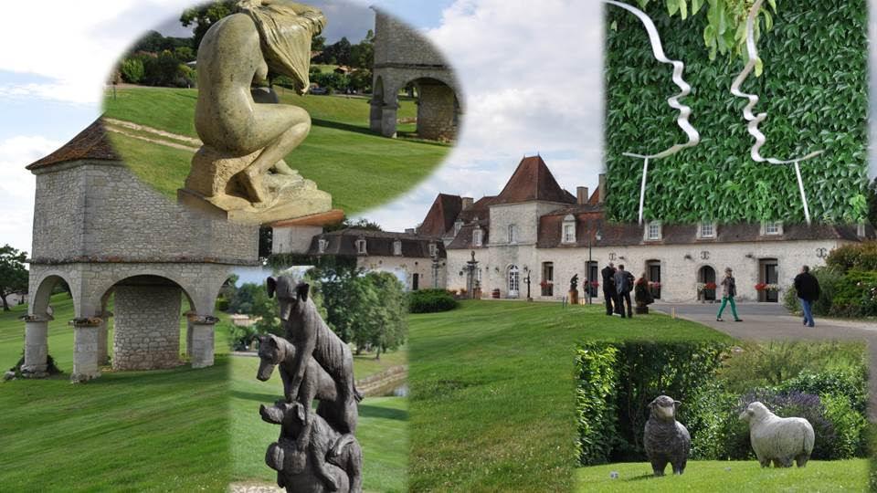 Sculptures au Jardin au Domaine des Vigiers à Monestier (Dordogne)