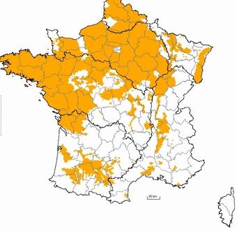 Les zones vulnérables en 2013 (Ministère)