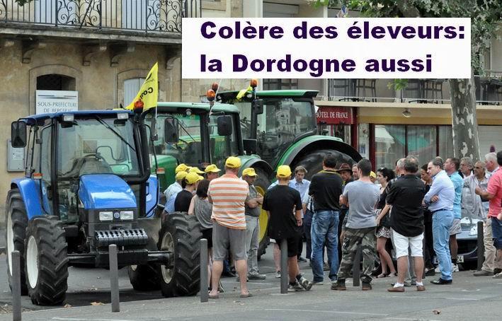 Manfestation à Bergerac le 22 juillet (Ph RD)
