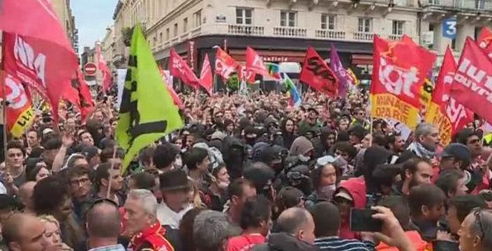 La manifestation de Bordeaux (ph capture écran video France3 Aquitaine)