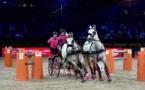 Le salon du cheval de Paris en marche