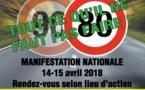 Contre le 80km/h: journées nationales d'action les 14 et 15 avril
