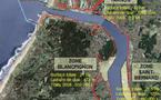 Importants travaux de renforcement  de la digue  nord du  port de Bayonne