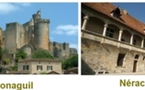 Les châteaux de Bonaguil et Nérac sites majeurs de l'Aquitaine