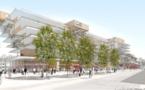 Le futur visage de la gare de Bordeaux côté Belcier