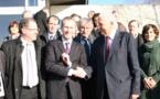 Guillaume Garot ministre de l'agroalimentaire visite Doux à Chateaulin