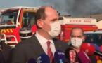Castex sur fond de fumée noire en Lot-et-Garonne