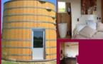 Hébergement insolite en Gironde: le foudre une pièce cuisine