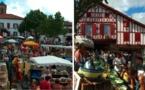 Marché de la mi-septembre:La Bastide-Clairence a du pot