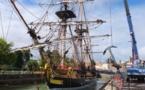 La nouvelle Hermione va quitter le port sous les caméras France3