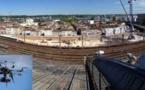 Bordeaux: contrôle des toits de la gare Saint-Jean par drone