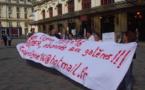 """Un collectif d'usagers en gare de Bordeaux:""""le TER c'est la galère!"""""""