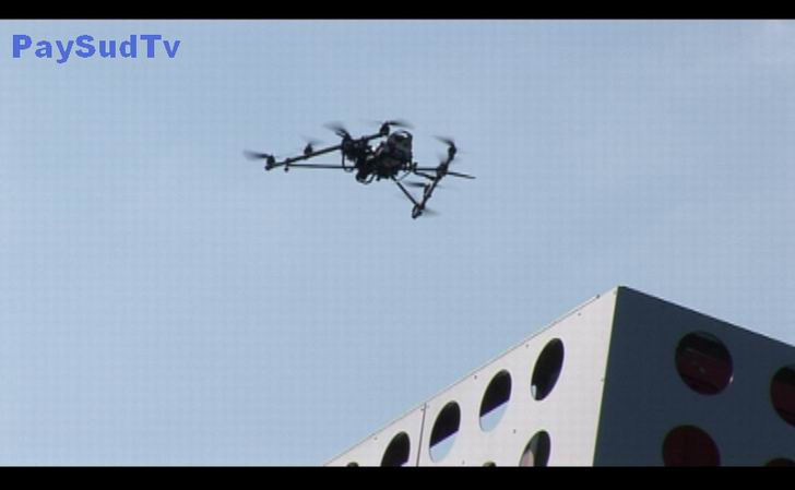 Drones à tout faire à Bordeaux (vidéo)