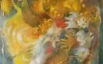 Le tableau de Marie-Claire d'Armagnac qui écrit le nom de la liberté