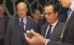 François Hollande inaugure la Cité du Vin entourée d'un no mans land