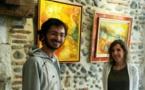 """""""Que'm Platz"""" à Pau: Quand deux passionnés d'art passent du spatial à l'espace peinture"""