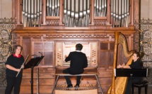 Concert en trio en l'église de Gujan-Mestras (Gironde)